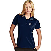 Antigua Women's New York Yankees Exceed Navy Performance Polo