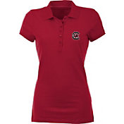 Antigua Women's South Carolina Gamecocks Garnet Spark Polo