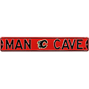Authentic Street Signs Calgary Flames 'Man Cave' Street Sign