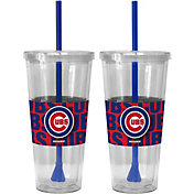 Boelter Chicago Cubs Bold Sleeved 22oz Straw Tumbler 2-Pack