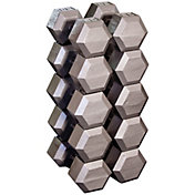 Body Solid Grey Hex 80-100 lb Dumbbell Set