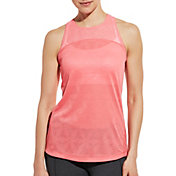 CALIA by Carrie Underwood Women's Move Jacquard Mesh Tank Top