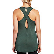 CALIA by Carrie Underwood Women's Flow Keyhole Detail Heather Tank Top