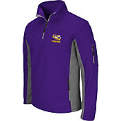 Colosseum Men's LSU Tigers Purple Quarter-Zip Plow Jacket