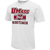 Colosseum Men's UMass Minutemen White Dual Blend T-Shirt