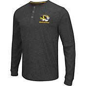 Colosseum Athletics Men's Missouri Tigers Charcoal Long Sleeve Henley T-Shirt