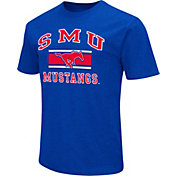 Colosseum Men's Southern Methodist Mustangs Red Dual Blend T-Shirt