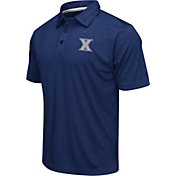 Colosseum Men's Xavier Musketeers Blue Heathered Performance Polo