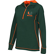 Colosseum Athletics Women's Miami Hurricanes Green Perfect Quarter-Zip Hoodie