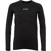 CCM Junior Gel Application Long Sleeve Hockey Compression Shirt