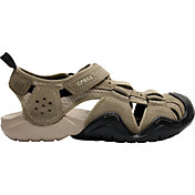 Crocs Men's Swiftwater Seude Fisherman Sandals