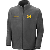 Columbia Men's Michigan Wolverines Charcoal Flanker Full-Zip Fleece Jacket