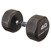 Fitness Gear 40 lb Rubber Hex Dumbbell