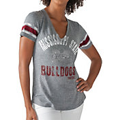 G-III For Her Women's Mississippi State Bulldogs Grey Any Sunday T-Shirt