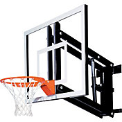 "Goalsetter 54"" Adjustable Acrylic Backboard and Single Static Rim"