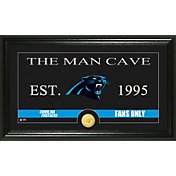The Highland Mint Carolina Panthers 'The Man Cave' Framed Bronze Coin Photo Mint