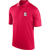 J. America Men's NC State Wolfpack Red Spector Polo