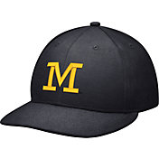 Jordan Men's Michigan Wolverines Blue Head Coach True Fitted Hat
