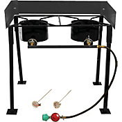 "King Kooker 25"" Rectangular Double Burner Camp Stove Package"