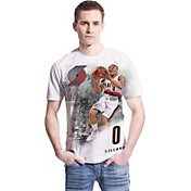 Levelwear Men's Portland Trail Blazers Damian Lillard Highlight White T-Shirt