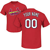 Majestic Men's Custom St. Louis Cardinals Red T-Shirt