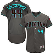Majestic Men's Authentic Arizona Diamondbacks Paul Goldschmidt #44 Flex Base Alternate Road Grey On-Field Jersey