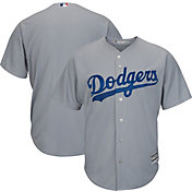 Majestic Men's Replica Los Angeles Dodgers Cool Base Alternate Road Grey Jersey