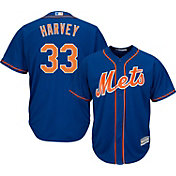 Majestic Men's Replica New York Mets Matt Harvey #33 Cool Base Alternate Home Royal Jersey