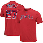 Majestic Triple Peak Men's Los Angeles Angels Mike Trout Red T-Shirt