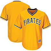 Majestic Men's Replica Pittsburgh Pirates Cool Base Alternate Gold Jersey