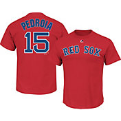 Majestic Men's Boston Red Sox Dustin Pedroia #15 Red T-Shirt