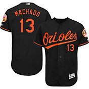 Majestic Men's Authentic Baltimore Orioles Manny Machado #13 Alternate Black Flex Base On-Field Jersey