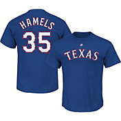 Majestic Men's Texas Rangers Cole Hamels #35 Royal T-Shirt