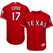Majestic Men's Authentic Texas Rangers Shin-Soo Choo #17 Alternate Red Flex Base On-Field Jersey