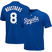 Majestic Triple Peak Men's Kansas City Royals Mike Moustakas Royal T-Shirt