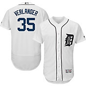 Majestic Men's Authentic Detroit Tigers Justin Verlander #35 Home White Flex Base On-Field Jersey
