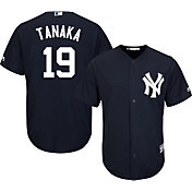 Majestic Men's Replica New York Yankees Masahiro Tanaka #19 Cool Base Alternate Navy Jersey
