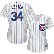 Majestic Women's Replica Chicago Cubs Jon Lester #34 Cool Base Home White Jersey