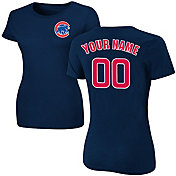Majestic Women's Custom Chicago Cubs Navy T-Shirt