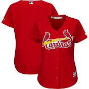 Majestic Women's Replica St. Louis Cardinals Cool Base Alternate Red Jersey