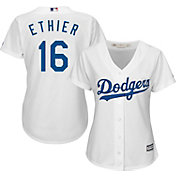 Majestic Women's Replica Los Angeles Dodgers Andre Either #16 Cool Base Home White Jersey