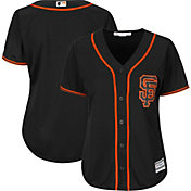 Majestic Women's Replica San Francisco Giants Cool Base Home White Jersey