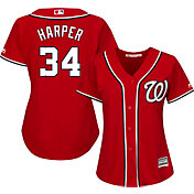 Majestic Women's Replica Washington Nationals Bryce Harper #34 Cool Base Alternate Red Jersey