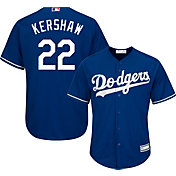 Majestic Youth Replica Los Angeles Dodgers Clayton Kershaw #22 Cool Base Alternate Royal Jersey