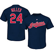 Majestic Youth Cleveland Indians Andrew Miller #24 Navy T-Shirt