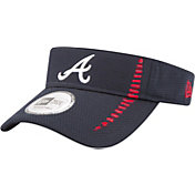 New Era Men's Atlanta Braves Navy Adjustable Speed Visor