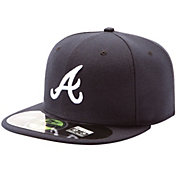 New Era Men's Atlanta Braves 59Fifty Road Navy Authentic Hat