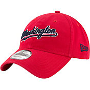 New Era Men's Washington Nationals 9Twenty Script Red Adjustable Hat