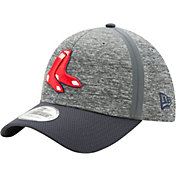New Era Men's Boston Red Sox 39Thirty Clubhouse Grey/Navy Flex Hat