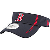 New Era Men's Boston Red Sox Navy Adjustable Speed Visor